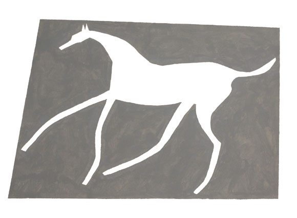 Alan Bond, Chalk Horses drawing